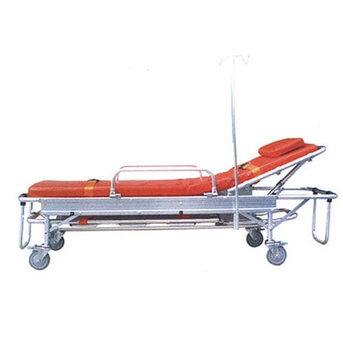 emergency stretcher trolley / manual / 2-section