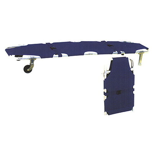 emergency stretcher / folding / on casters / aluminum