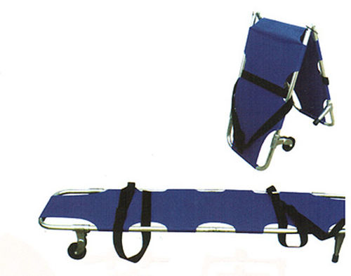 emergency stretcher / folding / on casters / aluminum