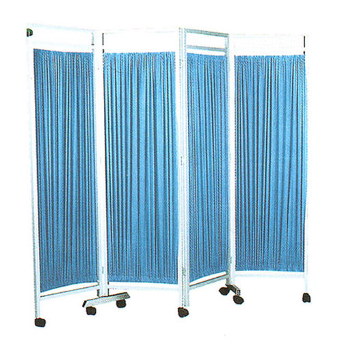 mobile hospital screen / 4-panel / with curtain / folding
