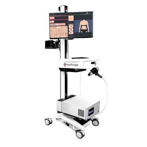 video dermatoscope / UV LED / white LED / computer-based