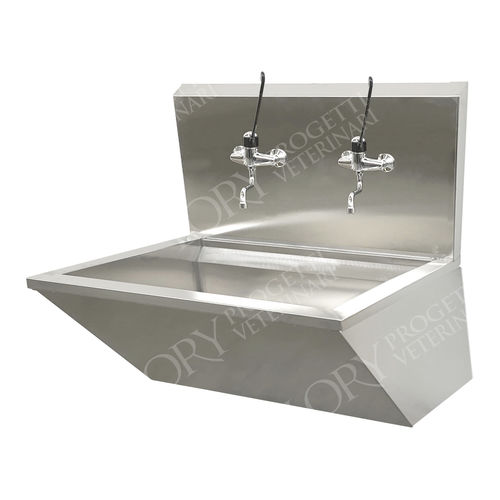 2-station surgical sink / stainless steel