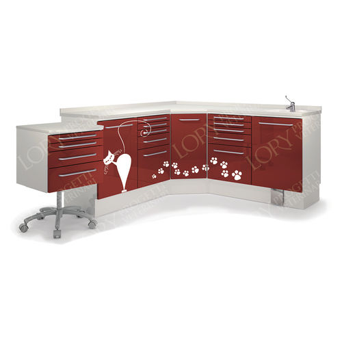 worktop with drawer / with sink / for veterinary clinics