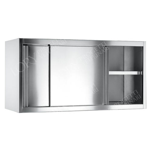 hospital cabinet / with shelf / stainless steel