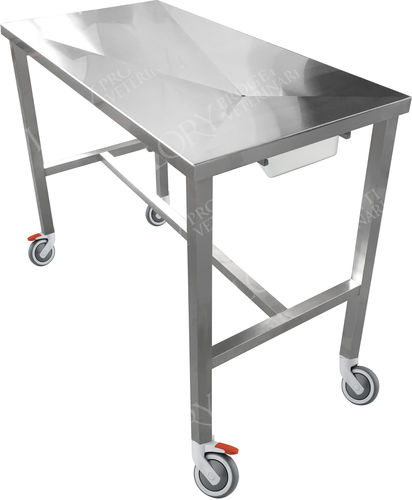 veterinary examination table / fixed-height / on casters / 1 section
