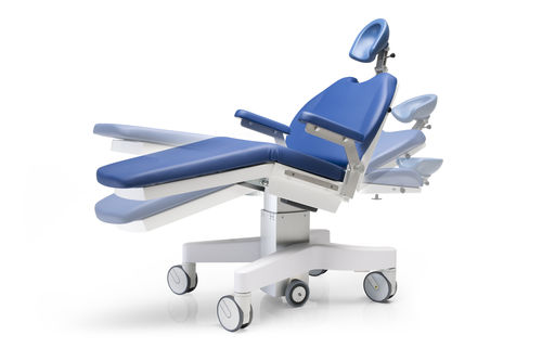 minor surgery examination table / electric / height-adjustable / on casters