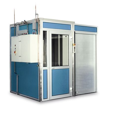 trolley washer-disinfector / with automatic door / with water softening dosing pump