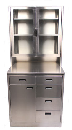 veterinary clinic cabinet / 5-drawer / stainless steel
