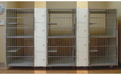 cat veterinary cage / 3-compartment / 6-shelf