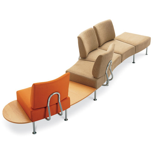 waiting room beam chair / with table / 5-person