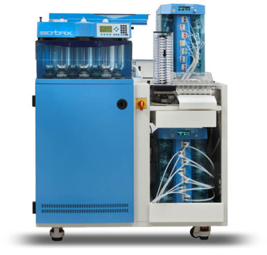dissolution testing system / for the pharmaceutical industry / floor-standing / fully-automatic