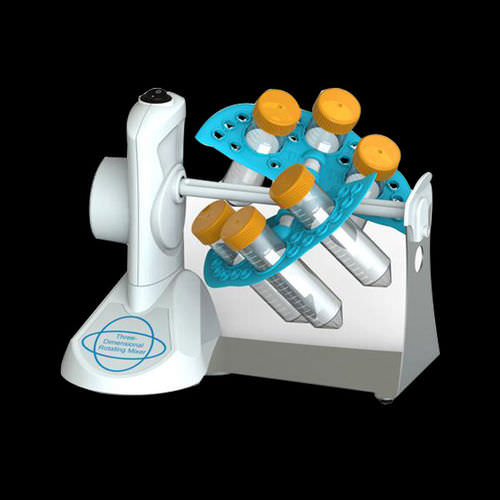 three-dimensional laboratory shaker / analog / bench-top