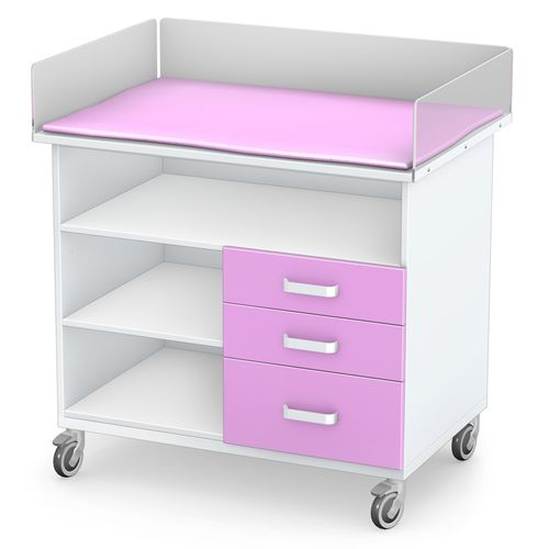 changing table / rectangular / on casters