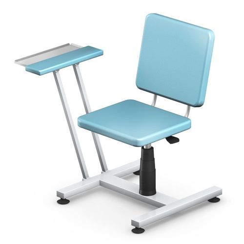 height-adjustable blood donor chair