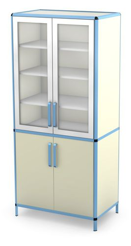 hospital cabinet / with shelf / with drawer / with door