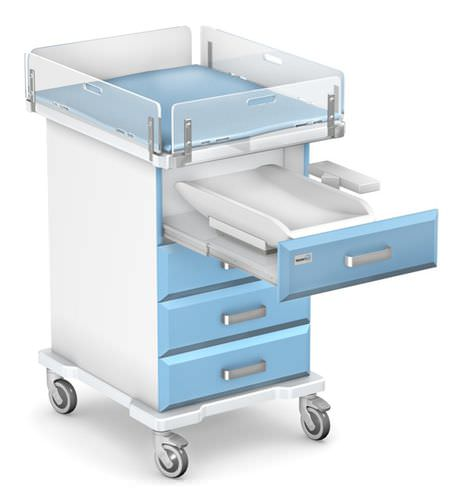 changing table / square / on casters