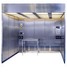 booth for the pharmaceutical industry / containment / sampling / weighing