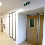 hermetic door / sliding / intensive care / operating room
