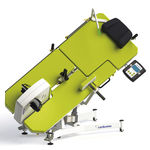 echocardiography examination table / electric / height-adjustable / on casters