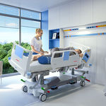 intensive care bed / electric / height-adjustable / lateral tilting