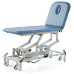 electric massage table / hydraulic / height-adjustable / on casters