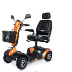 4-wheel electric scooter / with basket