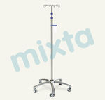 IV stand on casters