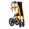 4-caster rollator / with seat / folding / height-adjustable