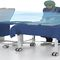 height-adjustable Mayo table / on casters / stainless steel / electric