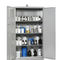 hazardous material cabinet / hospital / with shelf