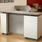 worktop with storage unit / on casters / height-adjustable