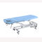 hydraulic treatment table / on casters / height-adjustable / 2-section