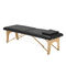 portable massage table / manual / height-adjustable / with headrest