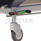 manual examination table / height-adjustable / on casters / 3-section