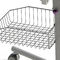 tilting hospital bassinet / on casters / transparent / with storage unit
