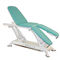 electric massage table / height-adjustable / with double legrests / 3-section