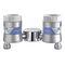 oxygen flow meter / air / plug-in type / double