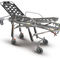 ambulance stretcher trolley / manual / height-adjustable / self-loading