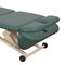 electric massage table / height-adjustable / on casters / 3-section