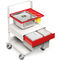 sterilization trolley / waste / with drawer / with tray