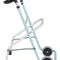 height-adjustable walker / folding / 2-wheel / pediatric