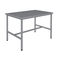 work table / medical instruments packing / rectangular / stainless steel