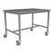 work table / medical instruments packing / on casters / stainless steel