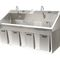 2-station surgical sink / stainless steel / knee-operated