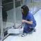 swing door / for veterinary clinics / stainless steel