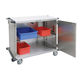 surgical trolley / transport / for sterile materials / with door