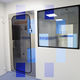 pivoting door / for clean rooms / stainless steel