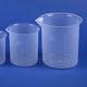 polypropylene beaker / laboratory / graduated