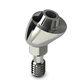 titanium implant abutment / internal / angulated / screw