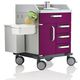 treatment trolley / for general purposes / for instruments / 4-drawer